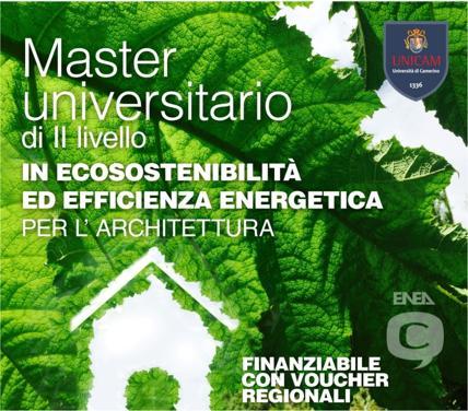 Master in Ecosostenibilità ed efficienza energetica per l'architettura