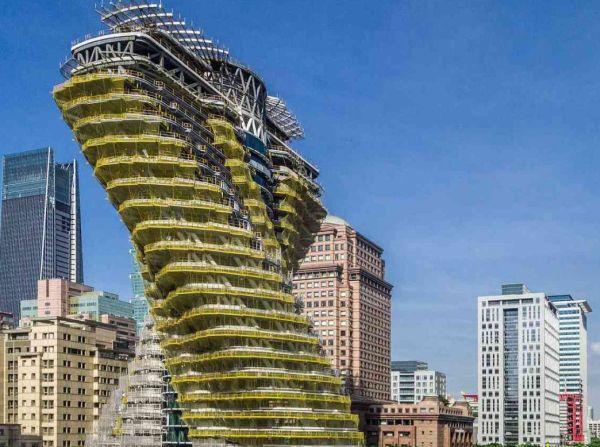 Tao Zhu Yin Yuan Tower: 23 mila alberi per assorbire CO2
