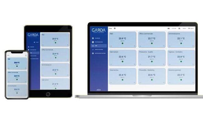 Monitoraggio accessibile on line dell'impianto di climatizzazione