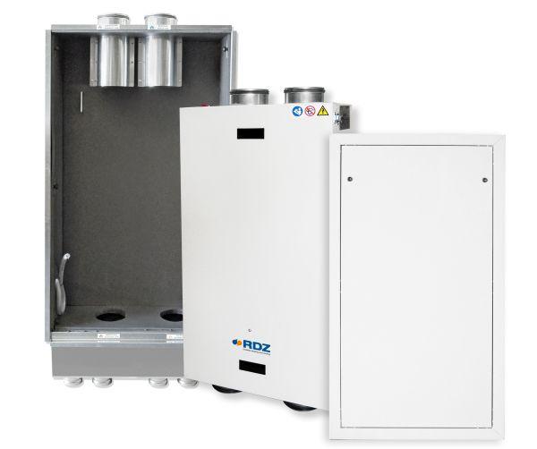 Rinnovo aria con recupero di calore efficiente e silenzioso
