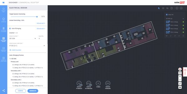Nuove funzionalità in Designer per installazioni fotovoltaiche commerciali