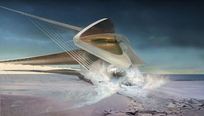 Una galleria d'arte che produce energia dalla forza delle onde