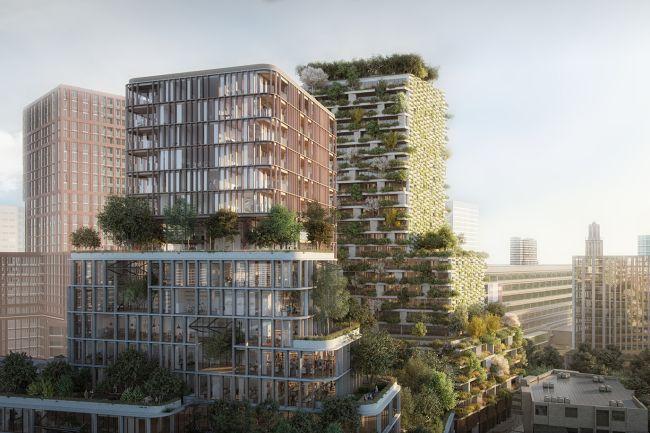 Le due torri verdi di Utrecht di Stefano Boeri Architetti e MVSA Architects