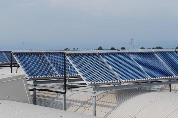 Impianto di Solar cooling realizzato presso la sede Kloben di Bovolone
