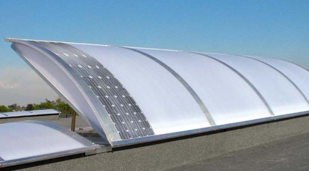 Lucernari fotovoltaici ad energia rinnovabile