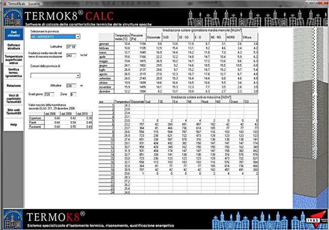 """Software di calcolo termico """"TermoK8® CALC"""""""