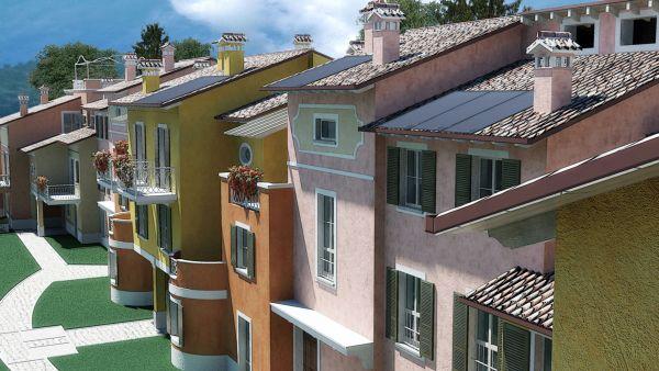 """I vantaggi dell'integrazione tra condensazione e solare nel """"condominio verde"""" di Atag Italia"""