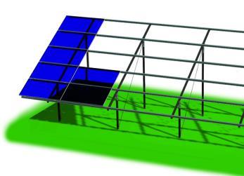Modello ZENITH PLUS, sistema per pensiline e serre fotovoltaiche