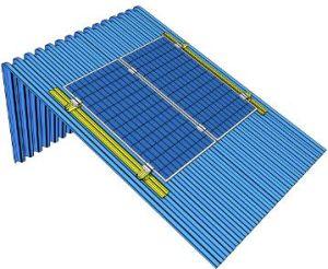 SHED PLUS, sistema per l'appoggio di moduli fotovoltaici