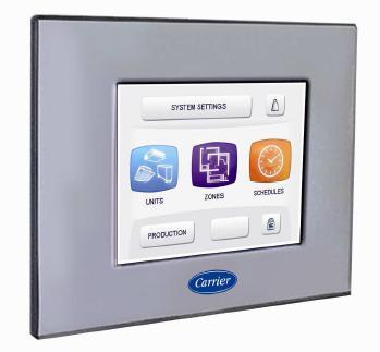 Con il nuovo Touch Pilot Control nasce il sistema in rete Carrier AquaSmart TM