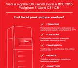 Vieni a scoprire tutti i servizi Hoval a MCE 2016 16