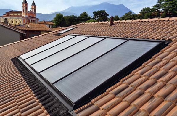 Sistema fotovoltaico e solare termico Monier