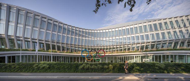 La facciata principale dell'Olympic House