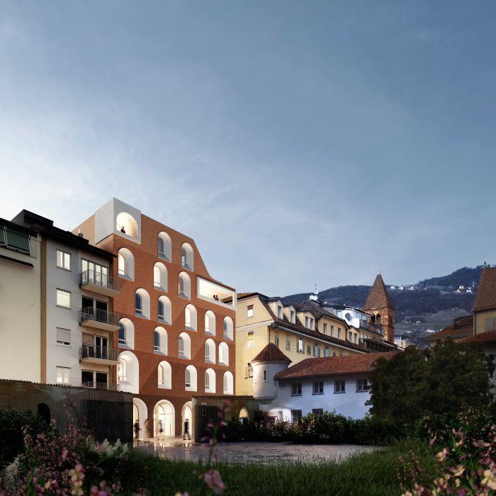 Legno lunare per l'hotel la Briosa di Bolzano