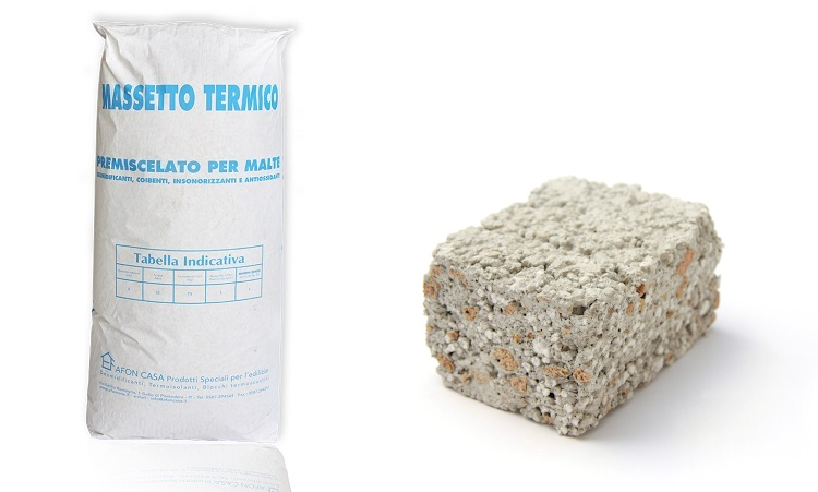 Massetto termico 0,045 per isolamento termico e isolamento acustico