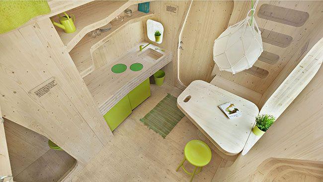 Tiny House Smart Student Unit, interno