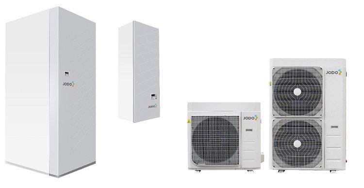 Pompa di calore splittata aria-acqua