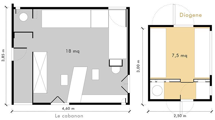 """Progetto """"Le Cabanon"""" costruito da Le Corbusier"""