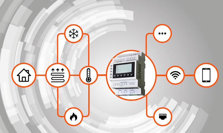CLIMA HUB: regolatore elettronico per compensazione climatica
