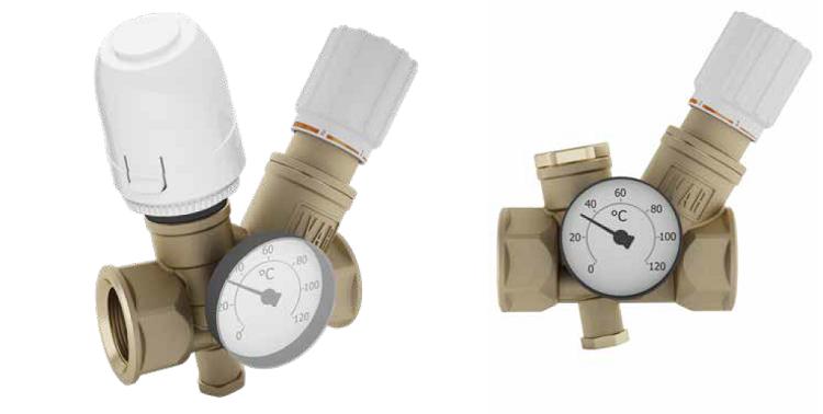 Valvole termostatiche per il controllo della temperatura dell'acqua