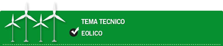Tema tecnico: Eolico