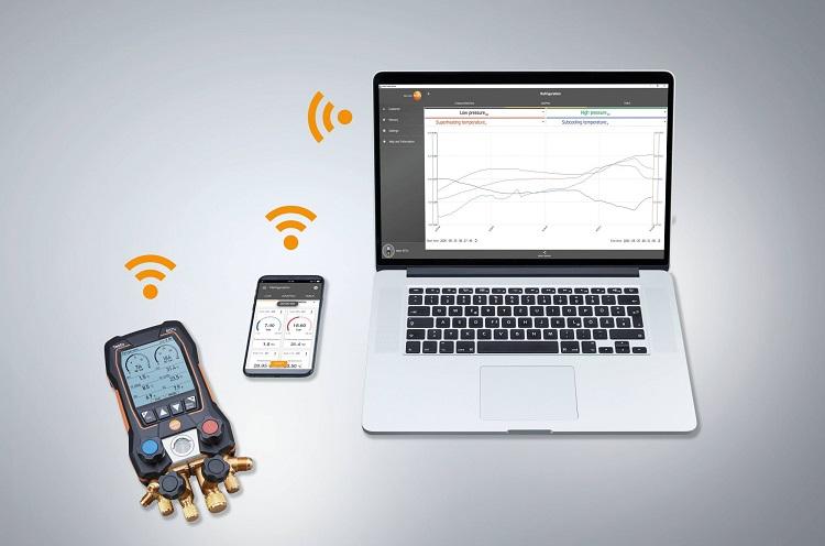 testo 557s: manifold digitale smart con blocco valvole a 4 vie