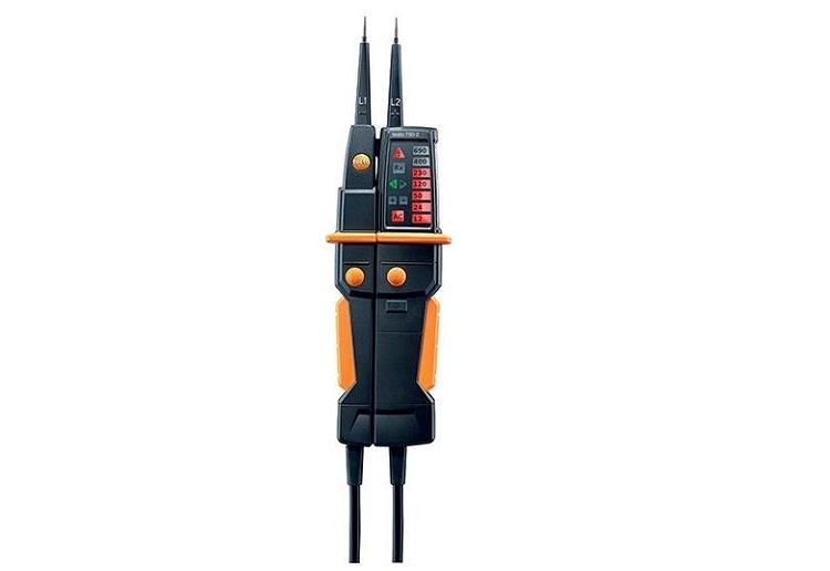 Tester di tensione a LED con torcia TESTO 750-2