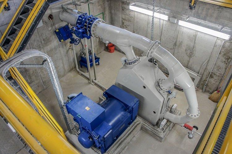 Turbina idroelettrica per grandi dislivelli