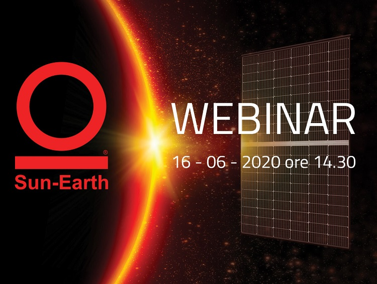 Sun Earth per il fotovoltaico con un webinar dedicato