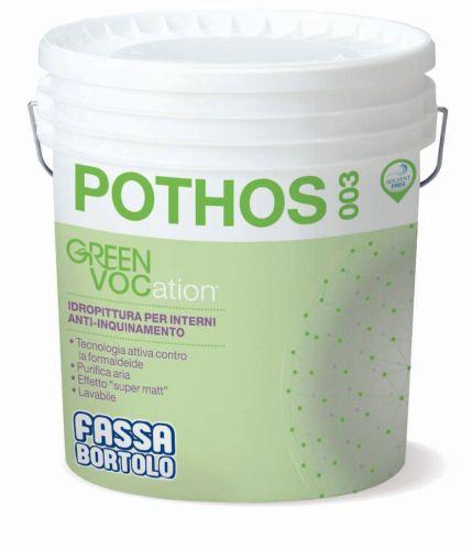 POTHOS 003 – Idropittura per interni anti-inquinamento di Fassa che purifica l'aria