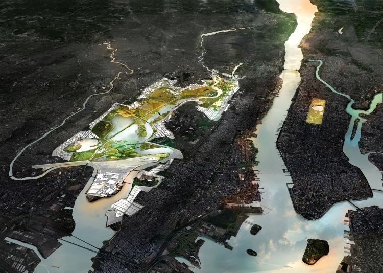 La proposta progettuale di Mit Cau+Zus per la zona di Meadowlands nel New Yersey