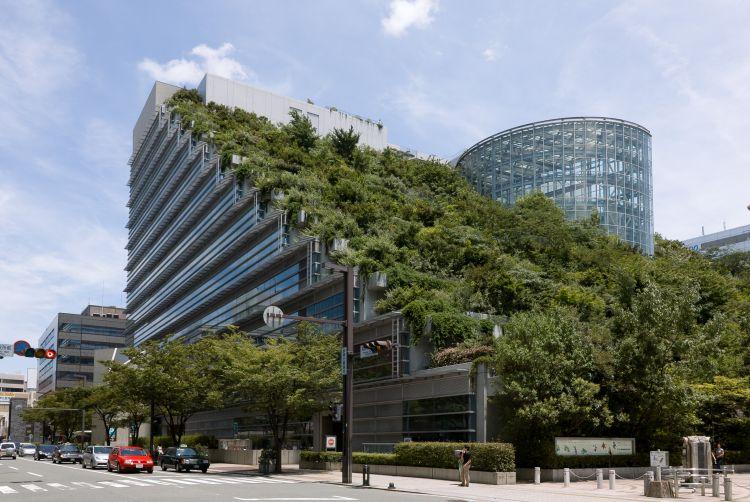 Centro Acros di Fukuoka con parete green