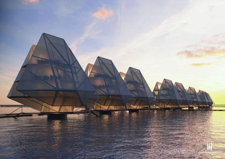 Abitazioni galleggianti per le comunità costiere di tutto il mondo