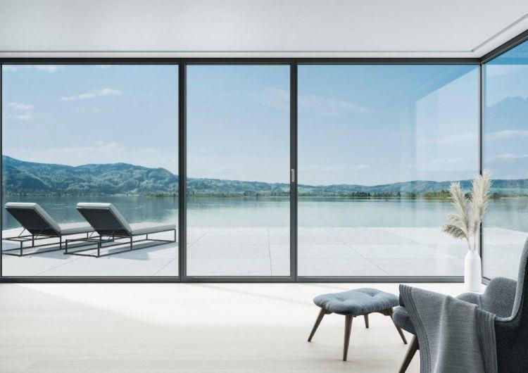 Finestra panoramica Schueco AWS 75 PD