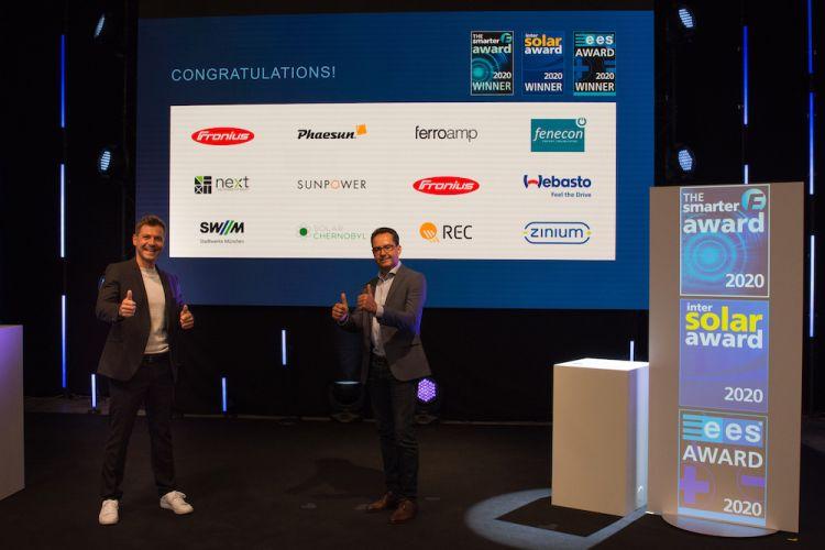 Innovazione e rinnovabili, ecco i vincitori dell'Intersolar Award
