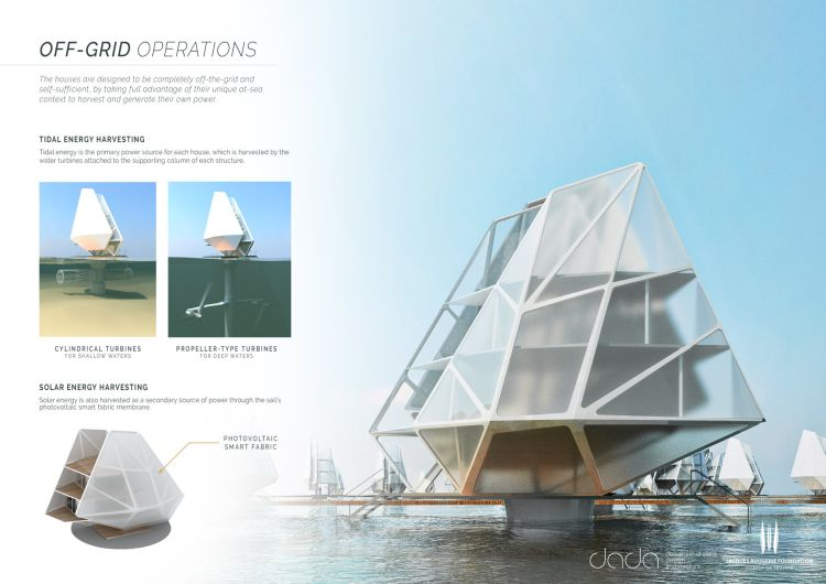 Currents for currents, abitazioni galleggianti autosufficienti energeticamente.
