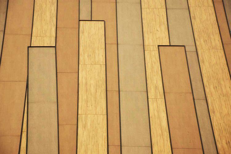 Le lastre Laminam che ricoprono la facciata dell'hotel Nodo in Cile