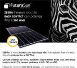 ZEBRA il nuovo modulo Back Contact con potenza fino a 360 Watt 6