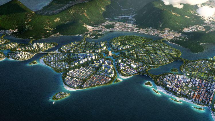 L'isola artificiale Mangroves nell'ambito del progetto BiodiverCity a Penang, in Malesia