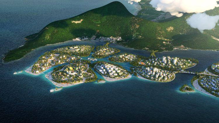 L'arcipelago artificiale The Laguna nell'ambito del progetto BiodiverCity a Penang, in Malesia