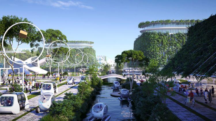 La mobilità urbana in BiodiverCity nell'ambito del progetto BiodiverCity a Penang, in Malesia