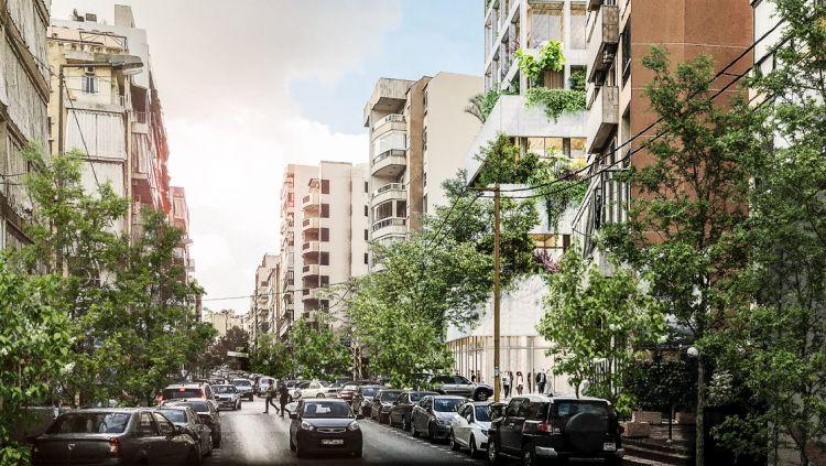 La torre MM Residential Building in una zona periferica di Beirut