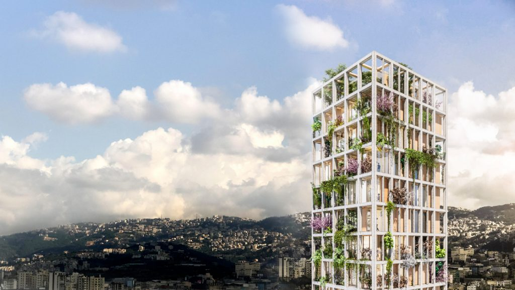 MM residential Building, Eco-Villaggio verticale a Beirut
