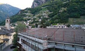 Isotec Parete per il rifacimento della copertura di una scuola a Chiavenna