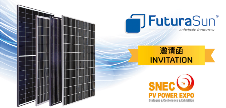 FuturaSun presente a SNEC, fiera internazionale del fotovoltaico