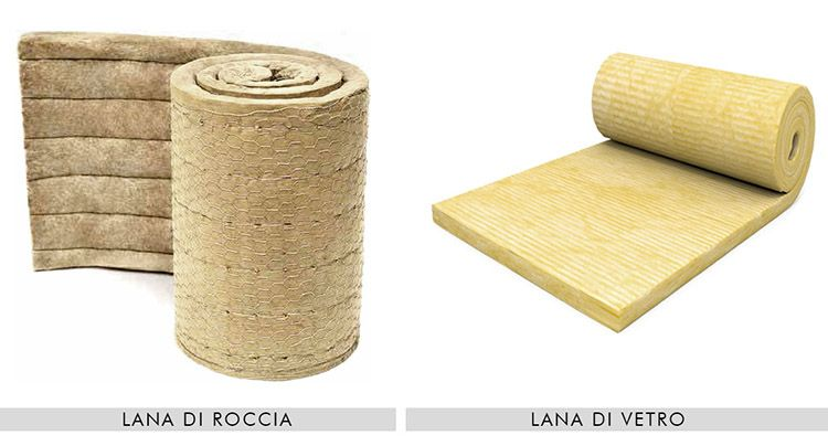 Isolanti termici in lana di roccia o vetro