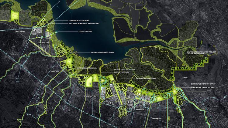 Recupero resiliente della Baia di San Francisco: l'area progettuale di South Bay Sponge