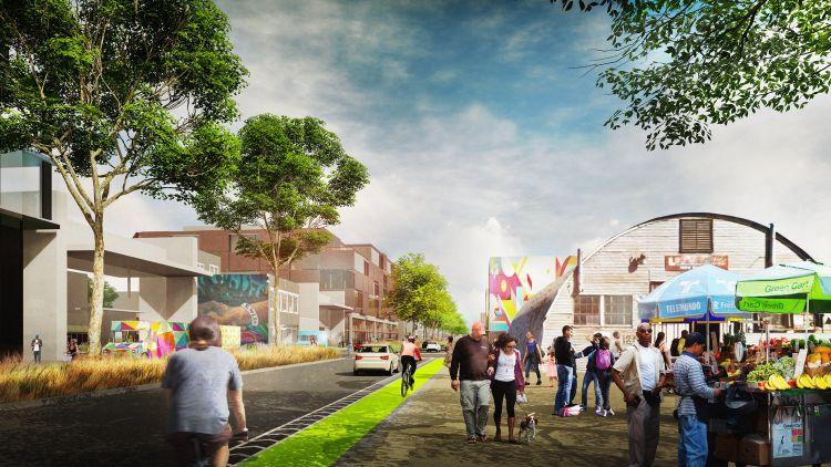 Il progetto per l'area progettuale di South Bay Sponge nella Baia di San Francisco prevede di realizzare un mercato