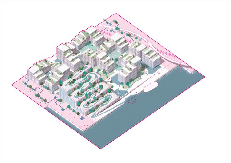 I futuri quartieri dei docks di Bergen in Norvegia