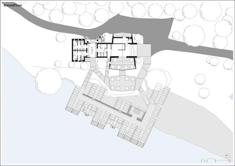 Planimetria generale della capanna sull'albero in provincia di Bolzano